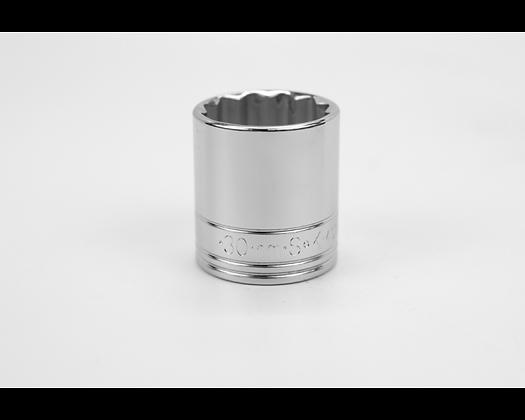S-K 40330 30mm 1/2in Dr 12 Pt Metric Std Chrome Socket