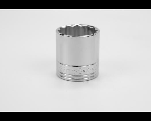 S-K 40332 32mm 1/2in Dr 12 Pt Metric Std Chrome Socket