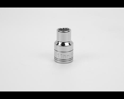 S-K 40311 11mm 1/2in Dr 12 Pt Metric Std Chrome Socket