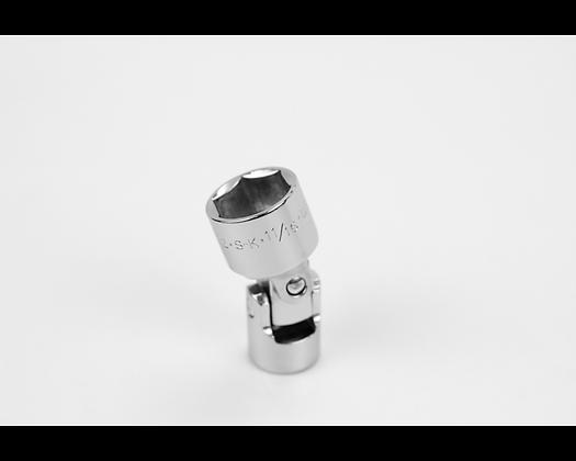 S-K 40622 11/16in 3/8in Dr 6 Pt Fract Flex Chrome Socket