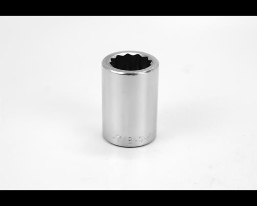 S-K 47128 7/8in 3/4in Dr 12 Pt Fract Std Chrome Socket