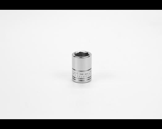 S-K 40710 11mm 1/4in Dr 6 Pt Metric Std Chrome Socket