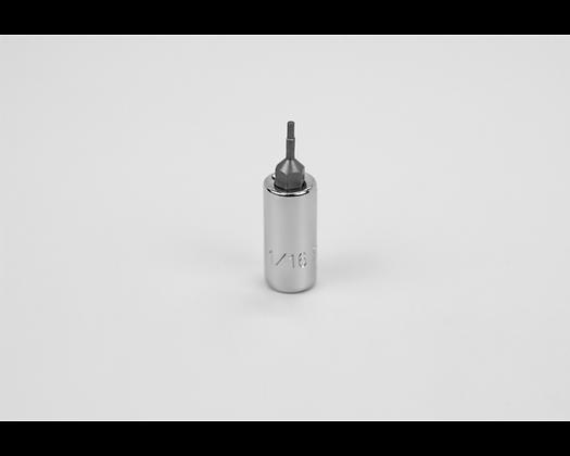 S-K 44304 1/16in 1/4in Dr Hex Chrome Bit Socket