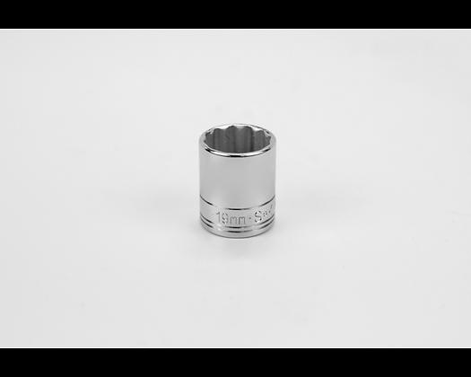 S-K 2319 19mm 3/8in Drive 12 Pt Metric Std Chrome Socket