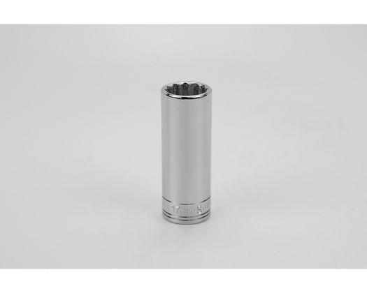 S-K 8437 17mm 3/8inDr 12 Point Metric Dp Chrome Socket