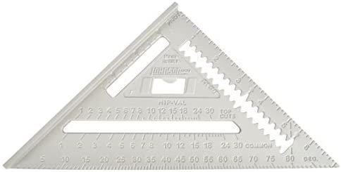 "Johnson RAS-1 7"" Johnny Square Aluminum Rafter Angle Square w/Manual"
