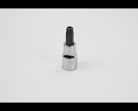 S-K 45450 T50 3/8in Dr Tamper Proof Torx Chrome Bit Socket