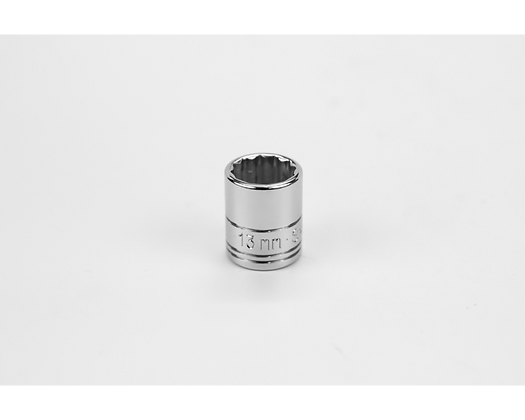 S-K 43712 13mm 1/4in Dr 12 Pt Metric Std Chrome Socket