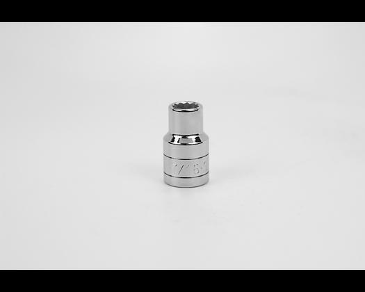 S-K 40214 7/16in 1/2in Dr 12 Pt Fract Std Chrome Socket