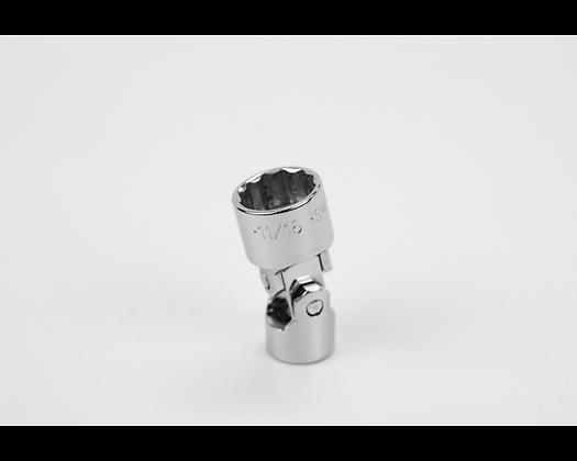 S-K 40672 11/16in 3/8in Dr 12 Pt Fract Flex Chrome Socket