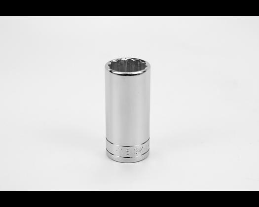 S-K 42428 7/8in 3/8in Dr 12 Pt Fract Dp Chrome Socket