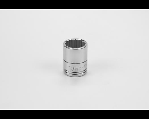 S-K 2316 16mm 3/8in Drive 12 Pt Metric Std Chrome Socket