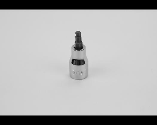 S-K 45506 3/16in 3/8in Dr Hex Ball Chrome Bit Socket