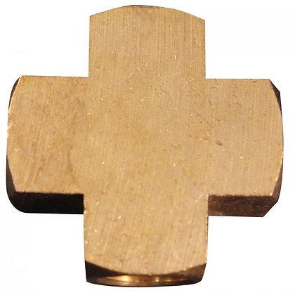 Milton 656 1/4in. FNPT Brass Cross Hose Fitting
