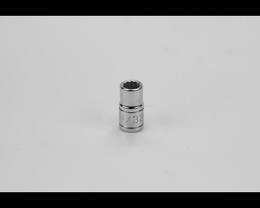 S-K 43909 9/32in 1/4in Dr 12 Pt Fract Std Chrome Socket