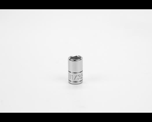 S-K 40911 11/32in 1/4in Dr 6 Pt Fract Std Chrome Socket
