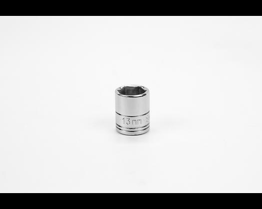 S-K 40712 13mm 1/4in Dr 6 Pt Metric Std Chrome Socket