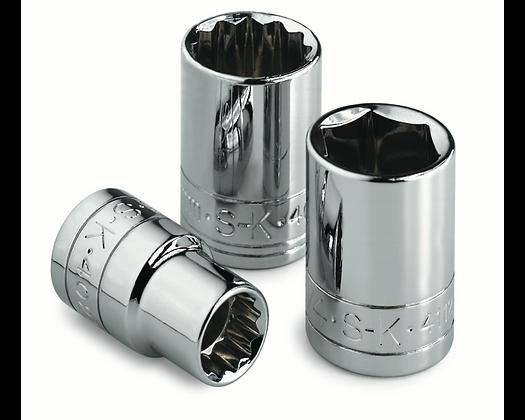 S-K 318S 18mm 3/8in Drive 6 Point Metric Standard Chrome Socket