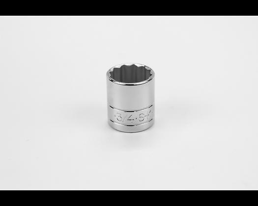 S-K 45124 3/4in 3/8in Dr 12 Pt Fract Std Chrome Socket