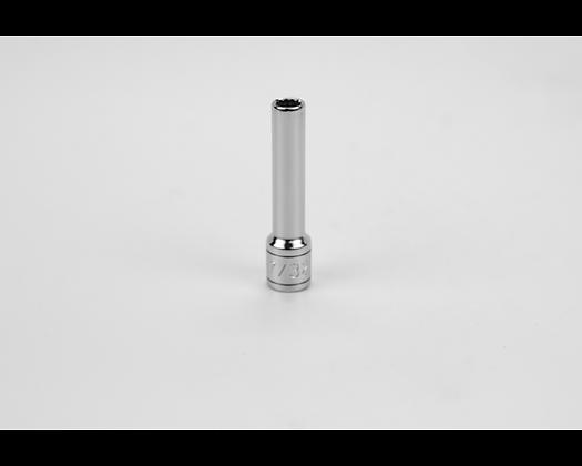 S-K 44907 7/32in 1/4in Dr 12 Pt Fract Dp Chrome Socket
