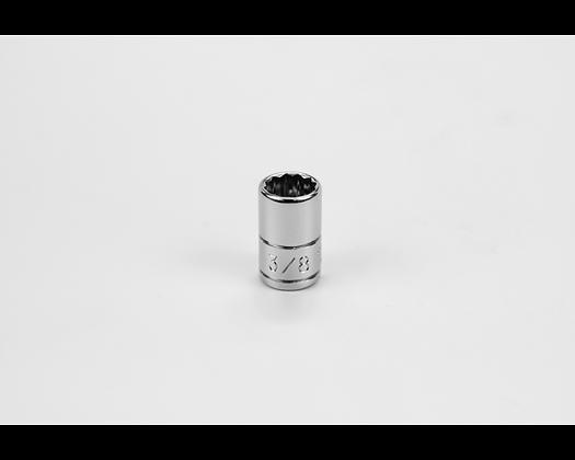 S-K 43912 3/8in 1/4in Dr 12 Pt Fract Std Chrome Socket