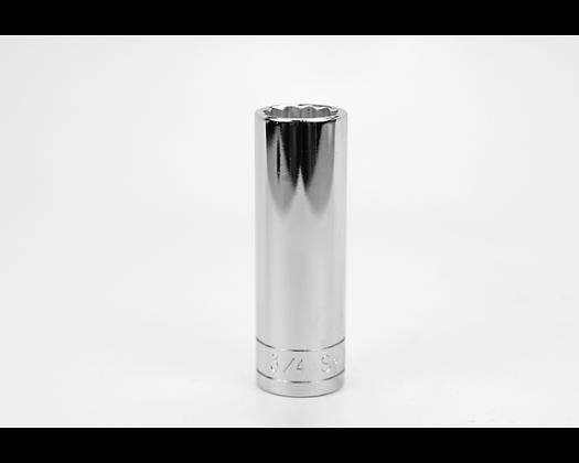 S-K 40824 3/4in 1/2in Dr 12 Pt Fract Dp Chrome Socket