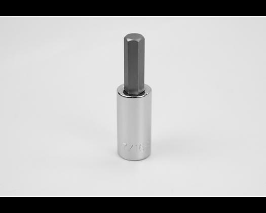 S-K 41215 7/16in 1/2in Dr Hex Chrome Bit Socket