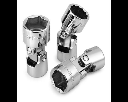 S-K 40614 7/16in 3/8in Dr 6 Pt Fract Flex Chrome Socket