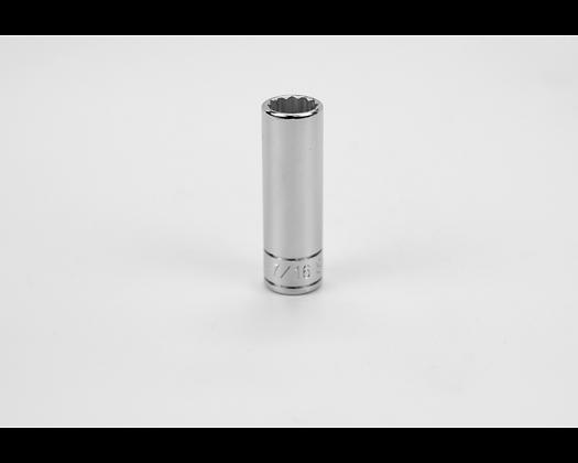 S-K 44914 7/16in 1/4in Dr 12 Pt Fract Dp Chrome Socket