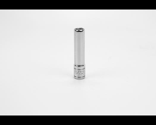 S-K 41909 9/32in 1/4in Dr 6 Pt Fract Dp Chrome Socket
