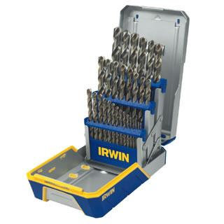 Irwin 3018002B 29 Piece Cobalt M-42 Metal Index Drill Bit Set