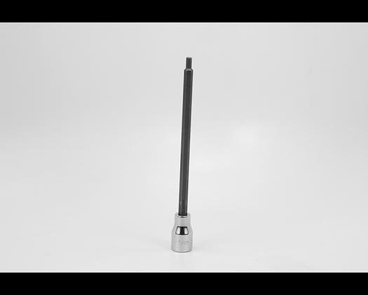 S-K 45954 4 mm 3/8in Dr Long Hex Chrome Bit Socket