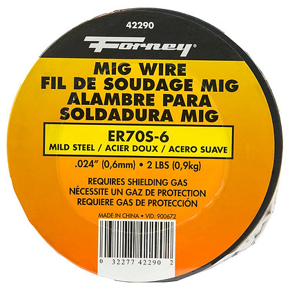 "Forney 42290 ER70S-6, .024"" x 2 lbs., Steel MIG"
