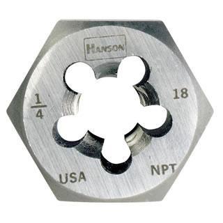 "Irwin 7406  3/4"" - 14 NPT Re-threading Hexagon Taper Pipe Die"