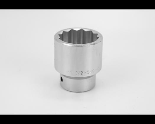 S-K 47148 1-1/2in 3/4in Dr 12 Pt Fract Std Chrome Socket