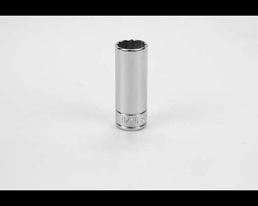 S-K 44918 9/16in 1/4in Dr 12 Pt Fract Dp Chrome Socket