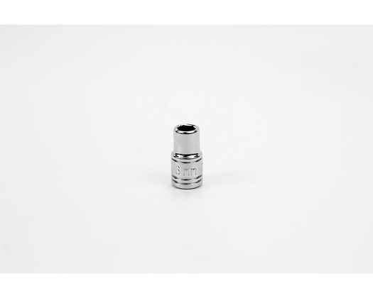 S-K 40704 6mm 1/4in Dr 6 Point Metric Std Chrome Socket