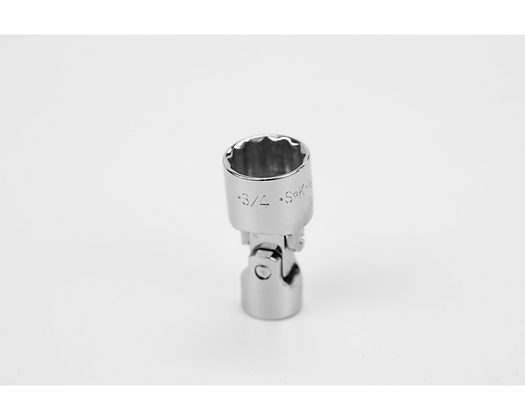 S-K 40674 3/4in 3/8in Dr 12 Pt Fract Flex Chrome Socket