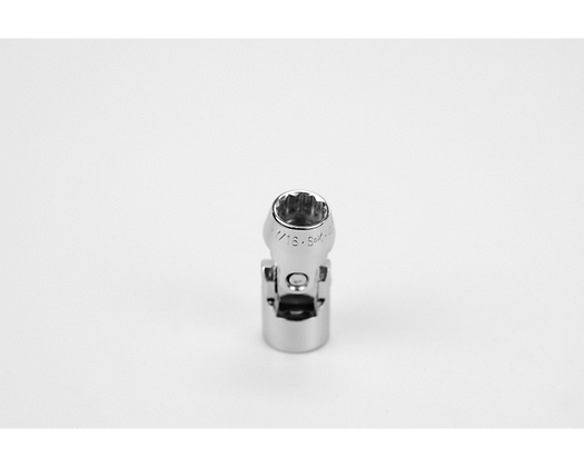 S-K 40664 7/16in 3/8in Dr 12 Pt Fract Flex Chrome Socket