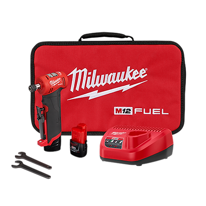 Milwaukee 2485-22 M12 FUEL 1/4in. Right Angle Die Grinder 2 Battery Kit