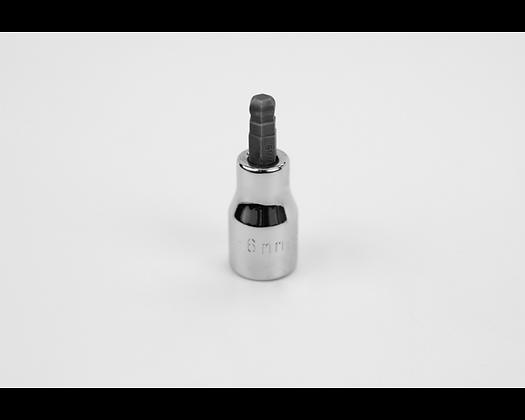 S-K 45526 6mm 3/8in Dr Hex Ball Chrome Bit Socket