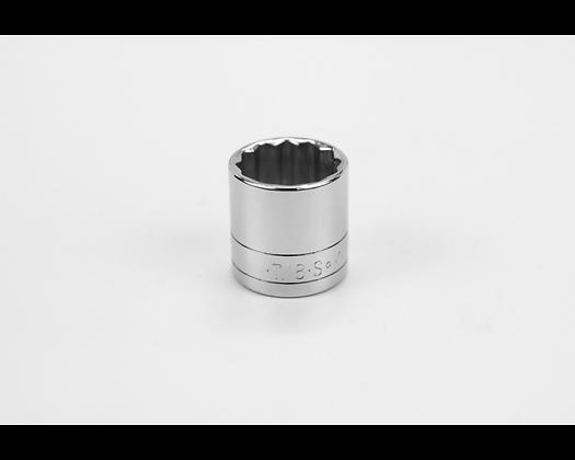 S-K 45128 7/8in 3/8inDr 12 Pt Fract Std Chrome Socket