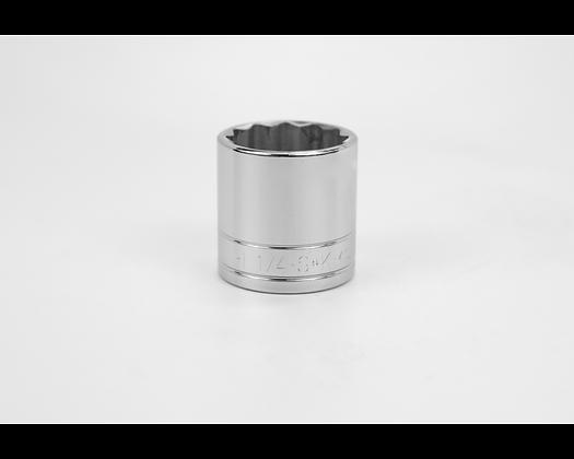S-K 40140 1-1/4in 1/2in Dr 12 Pt Fract Std Chrome Socket