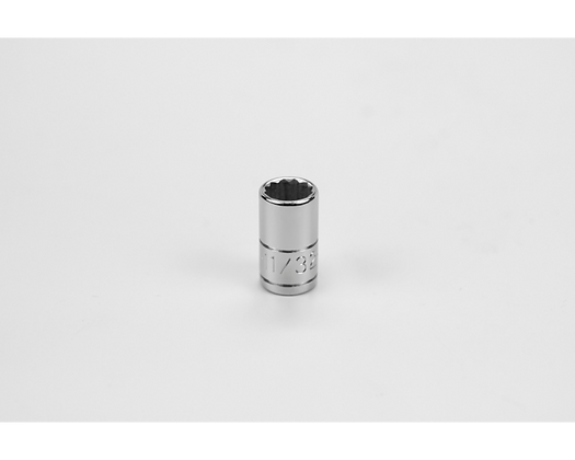 S-K 43911 11/32in 1/4in Dr 12 Pt Fract Std Chrome Socket