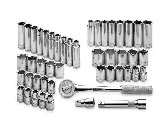 S-K 4147 47pc 1/2inDr 12Pt Std & Dp SAE & Metric Socket Set