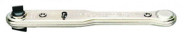 General 807 Ratcheting Offset Screwdriver with Two Slotted Blades