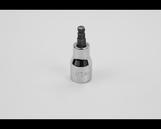 S-K 45507 7/32in 3/8in Dr Hex Ball Chrome Bit Socket