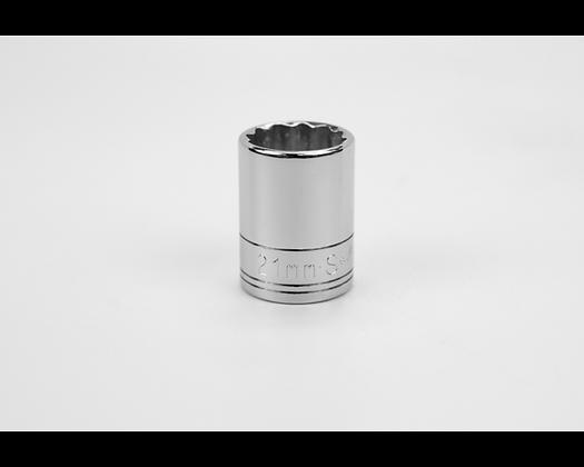 S-K 40321 21mm 1/2in Dr 12 Pt Metric Std Chrome Socket
