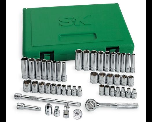 S-K 91848 48pc 1/4inDr 6 Pt Std & Dp SAE & Metric Socket Set