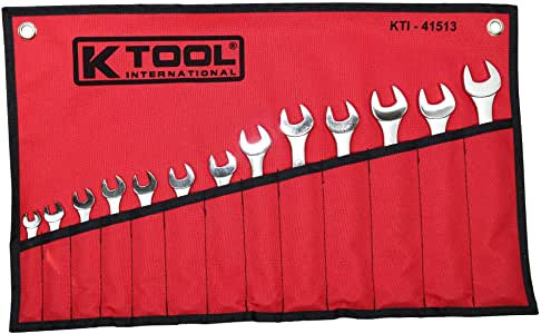 K-Tool 41513 13-pc Metric Raised Panel Combination Non-Ratcheting Wrench Set